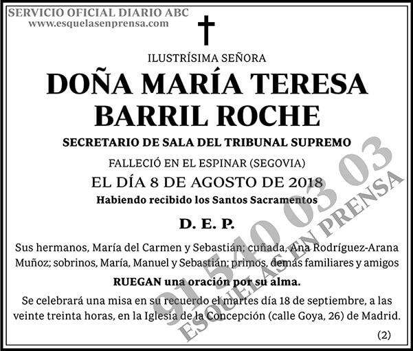 María Teresa Barril Roche